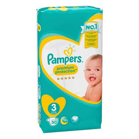 PAMPERS NEW BABY S3 4-7 KG  50 KPL