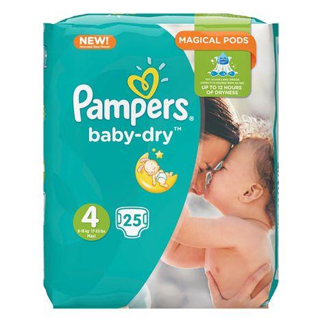 PAMPERS BABY DRY S4 8-16KG NORMAALIPAKKAUS 25 KPL 25 KPL