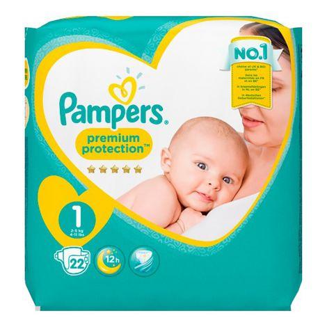 PAMPERS NEW BABY S1 2-5KG NORMAALIPAKKAUS 22 KPL 22 KPL