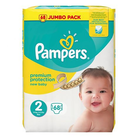PAMPERS NEW BABY VAIPPA S2 3-6 KG 68KPL