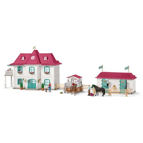 SCHLEICH LARGE HORSE STABLE WITH HOUSE AND STABLE