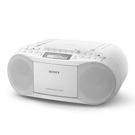 SONY CFD-S70 KASETTI JA CD-SOITIN FM-RADIOLLA, VALKOINEN