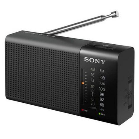 SONY ICF-P36 FM-RADIO VAAKAMALLI, MUSTA