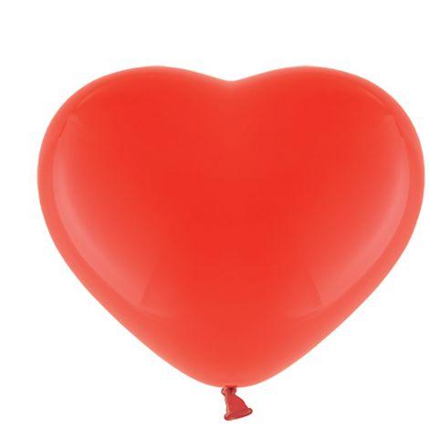 Sydänkumipallot 28cm 10kpl, punainen