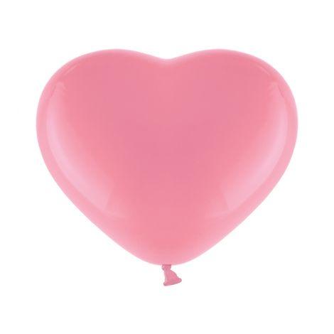 Sydänkumipallot 28cm x10kpl, pinkki