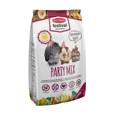 BEST FRIEND FESTIVAL EXCLUSIVE PARTY MIX KANIN/JYRSIJÄN TÄYSRAVINTO 900g