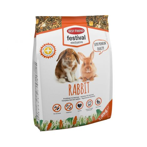 BEST FRIEND FESTIVAL EXCLUSIVE KANIN TÄYSRAVINTO 1,9 KG