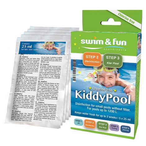 S&F KIDDY POOL PUHDISTUSPUSSIT 5X25ML, KLOORITON
