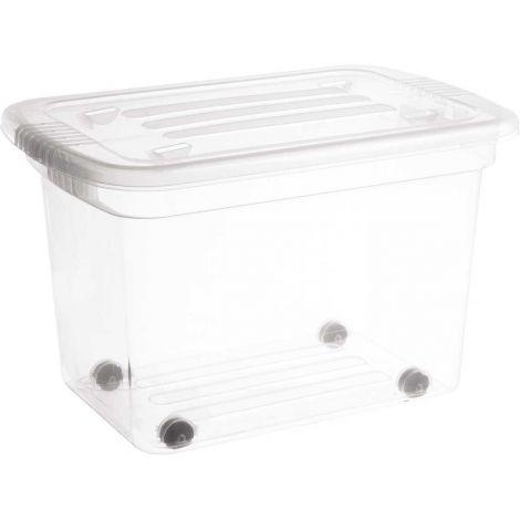 Home Box säilytyslaatikko 55L pyörillä