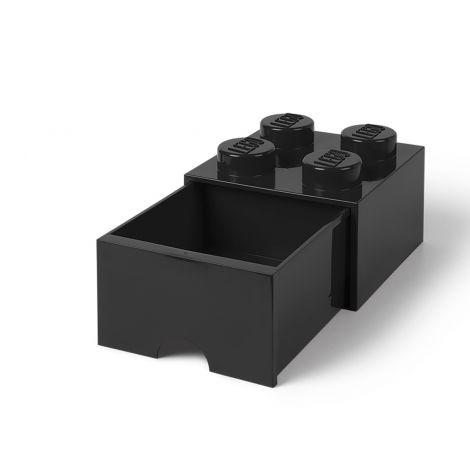LEGO SÄILYTYSVETOLAATIKKO 4 MUSTA 25X25X18CM