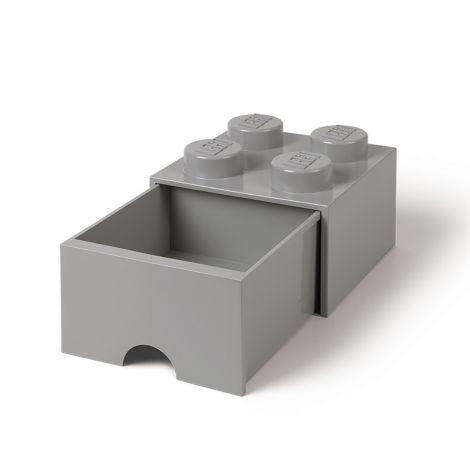 LEGO SÄILYTYSVETOLAATIKKO 4 HARMAA 25X25X18CM