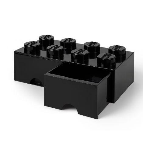 LEGO SÄILYTYSVETOLAATIKKO 8 MUSTA 50X25X18CM
