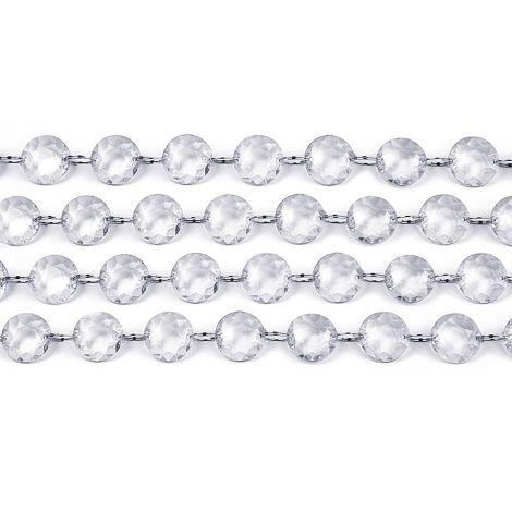 Kristallihelminauha 1m, läpinäkyvä