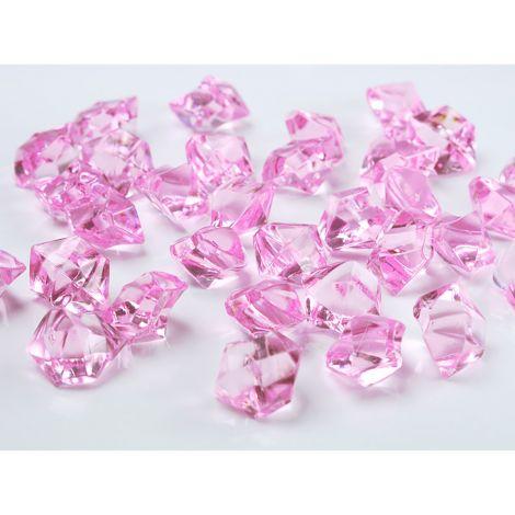 Koristejäähelmet 50kpl, vaaleanpunaiset