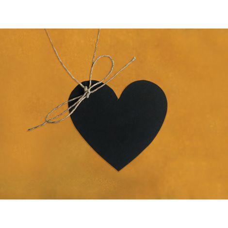 Liitutaulu 5x4,5cm 10kpl, sydämenmuotoinen