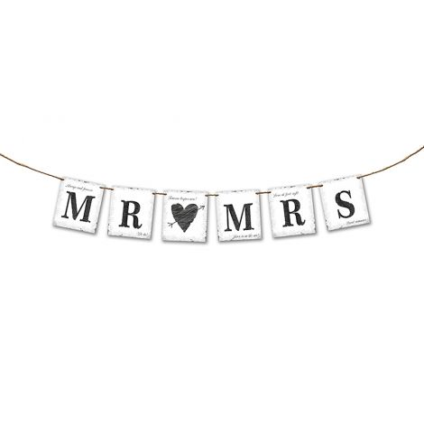Kirjainnauha Mr. & Mrs.