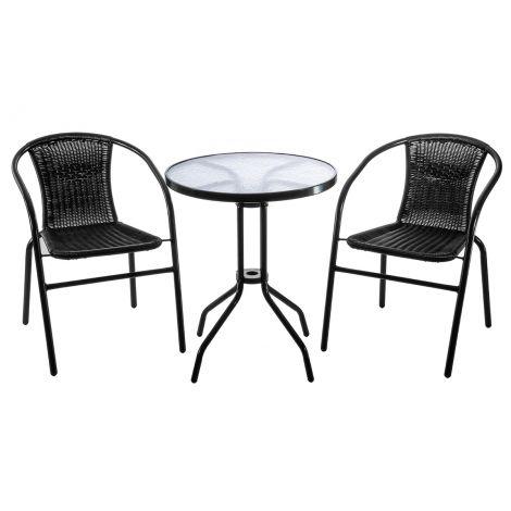 Roma Bistro parvekesetti, pöytä ja 2 tuolia