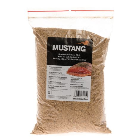Mustang Pro kylmäsavupuru 3L, kuorittu leppä