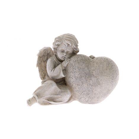 4 Living enkeli nojaa sydämeen 16 cm