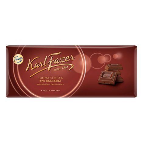 Karl Fazer 47% Tumma suklaa 200g