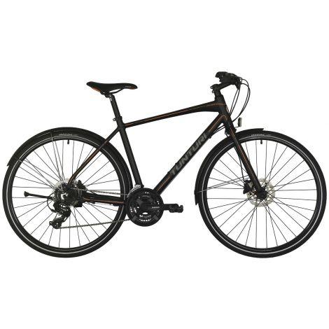 """Tunturi 28"""" Active miesten polkupyörä 24V 56cm, mattamusta/oranssi-harmaa"""