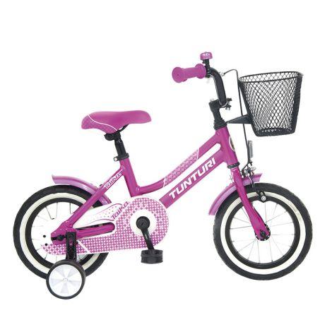 """Tunturi 12"""" lasten polkupyörä Taika 1-V pinkki"""