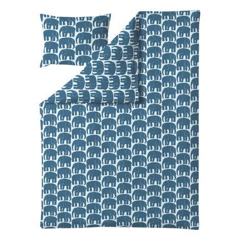 Finlayson pussilakanasetti 150x210cm, Elefantti petrooli/v.sin