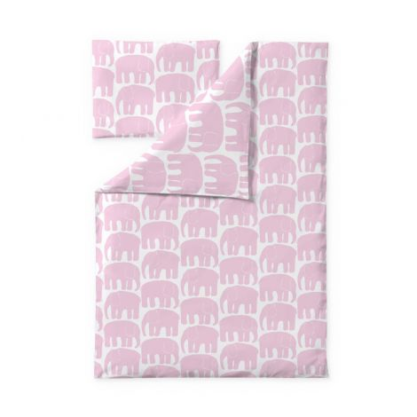 Finlayson lasten pussilakanasetti 85x125+40x60cm, Elefantti v.roosa
