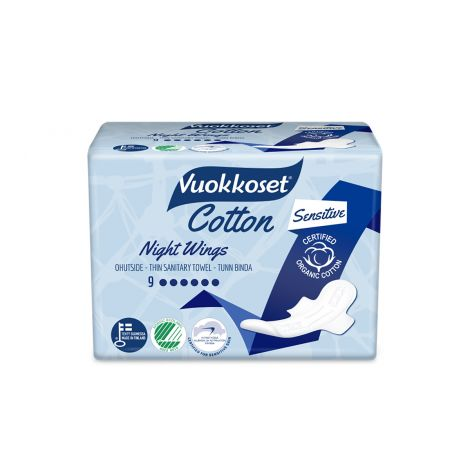 VUOKKOSET COTTON NIGHT WINGS  9 KPL