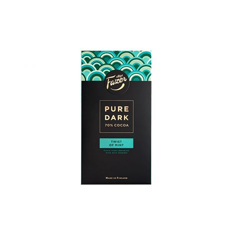Fazer Pure Dark 70% Twist of Mint tumma suklaa 95g