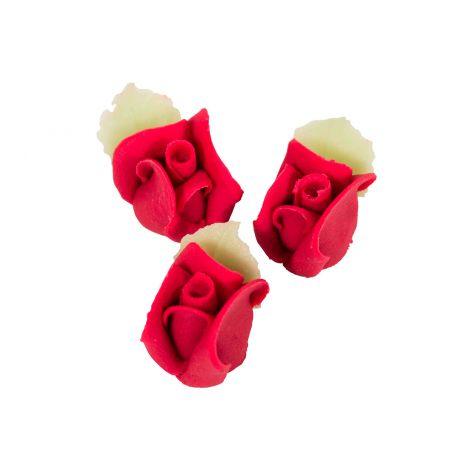 Marsipaaniruusu 3kpl, punainen