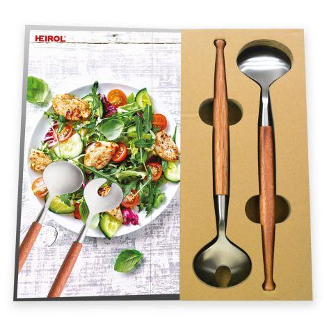 Heirol salaattiottimet puukahvalla, lahjapakkaus