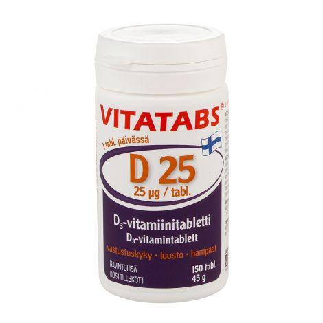 VITATABS D25  150 KPL