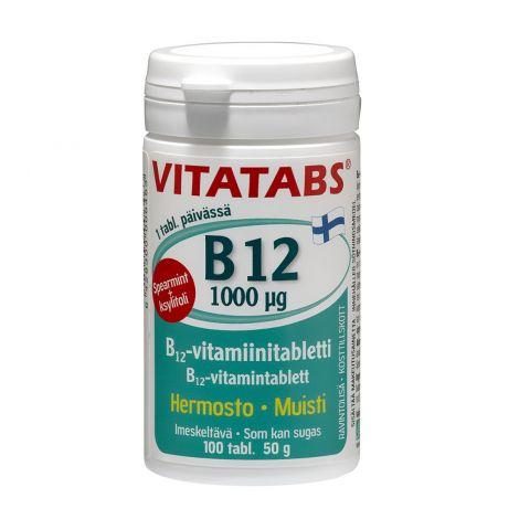 VITATABS B12 SPEARMINT 100MIKROGR. 100 KPL