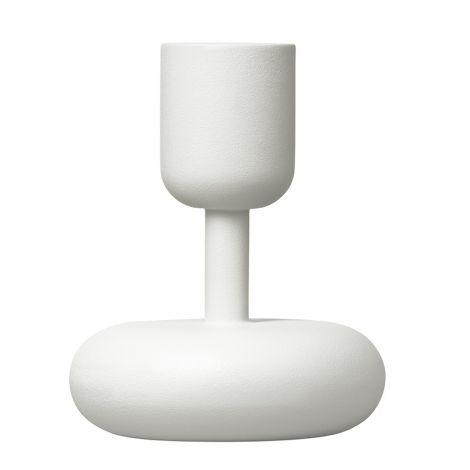 Iittala Nappula kynttilänjalka 107mm, valkoinen