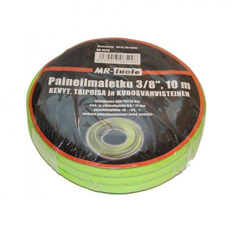 "MR-TUOTE PAINEILMALETKU PVC + KUMI 3/8"" 10M"