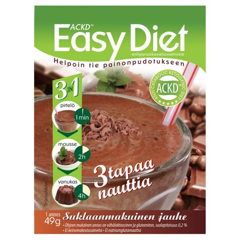 Easy Diet Ackd 3In1 Suklaapirtelö 49 g