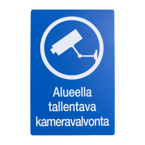 VAROITUSMERKKI KAMERAVALVONTA (20X30CM)