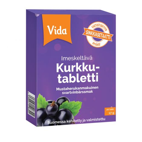 Vida Kurkkutabletti Mustaherukka 20 kpl