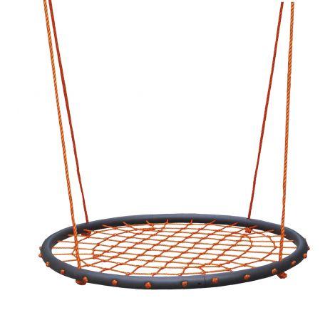 Toyrock lasten hämähäkkikeinu 100cm, pehmustet reunat