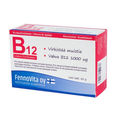 FENNOVITA B12 + FOOLIHAPPO  100 KPL