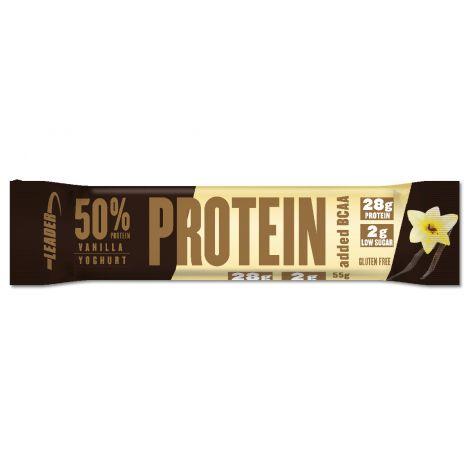 Leader 50% Protein + BCAA Patukka Vaniljajogurtti 55 g