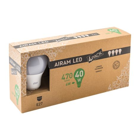 AIRAM LED 6W 470 LM. 4-PACK VAKIOL