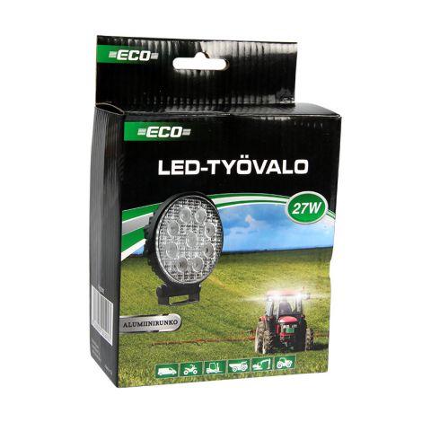 ECO 27W (9X3W) EPISTAR LED TYÖVALO 9-32V 1400LM