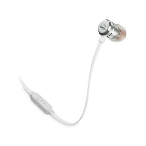 JBL T290 Nappikuulokkeet mikrofonilla, hopea