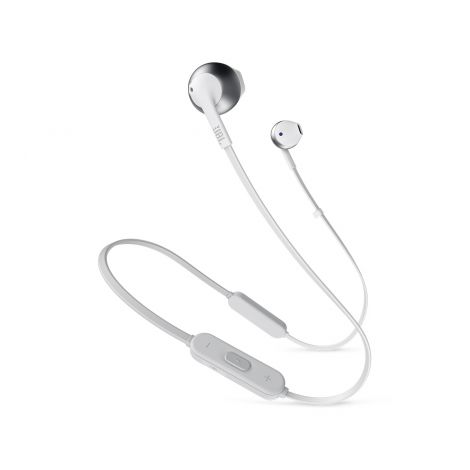 JBL TUNE 205BT Bluetooth nappikuulokkeet, hopea