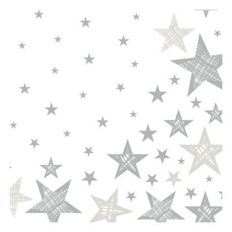DUNI LAUTASLIINA 33CM SHINING STAR VALKOINEN 20KPL