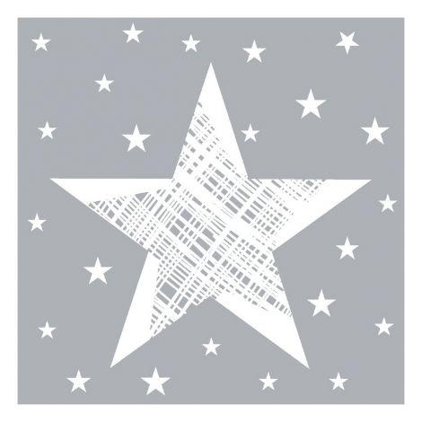 DUNI LAUTASLIINA 24CM SHINING STAR HARMAA 20KPL