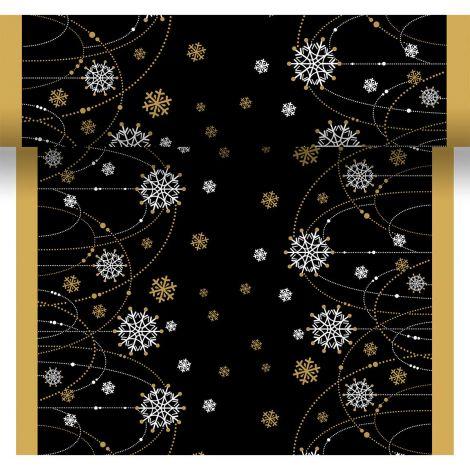 DUNI POIKKILIINA SNOW NECKLACE MUSTA 0,4,X4,8M