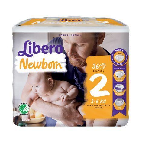 LIBERO NEWBORN KOKO 2 3-6 KG  36 KPL